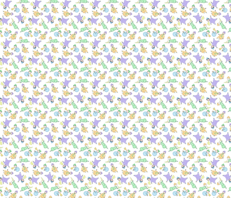 puking babies fabric by remark on Spoonflower - custom fabric
