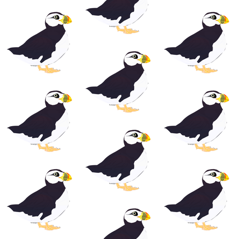 Puffin fabric by combatfish on Spoonflower - custom fabric