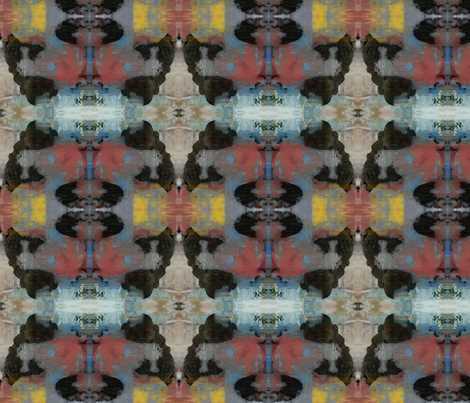 Meditating Buddha Kilim (Red & Yellow) fabric by motz_art_fabrics on Spoonflower - custom fabric
