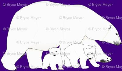 Polar bear Mother and babies
