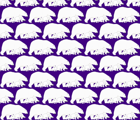 Polar bear Mother and babies fabric by combatfish on Spoonflower - custom fabric
