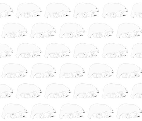 Polar Bear Mom and Babies fabric by combatfish on Spoonflower - custom fabric