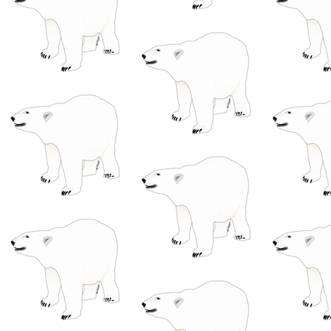 Growling Polar Bear fabric by combatfish on Spoonflower - custom fabric