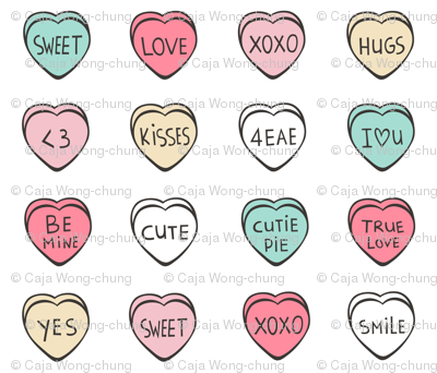 Conversation Candy Hearts Valentine Love Bunting