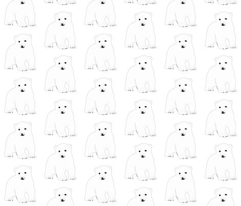 Baby Polar Bear fabric by combatfish on Spoonflower - custom fabric