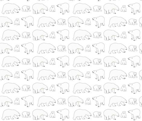 Line of Polar bears fabric by combatfish on Spoonflower - custom fabric
