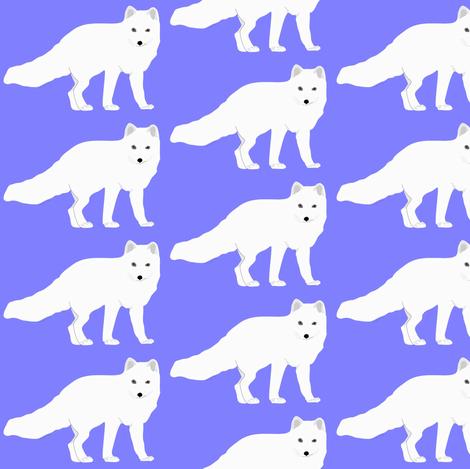 Arctic  Fox in purple fabric by combatfish on Spoonflower - custom fabric