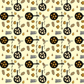 60s latke pattern yellow grnd smal copy