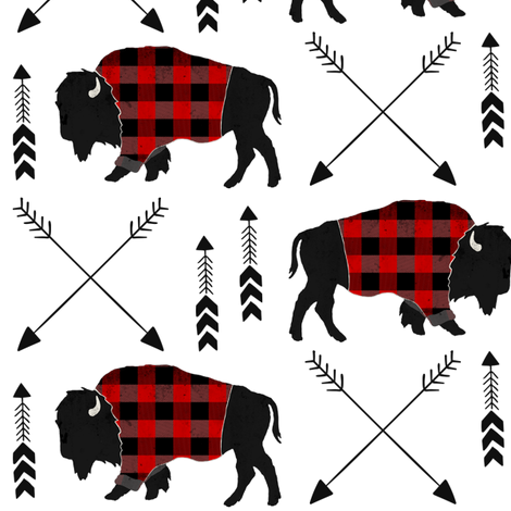 buffalo plaid arrow fabric by thekindredpines on Spoonflower - custom fabric