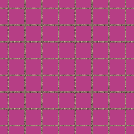 Grouted Grid on #b63e85 fabric by anniedeb on Spoonflower - custom fabric