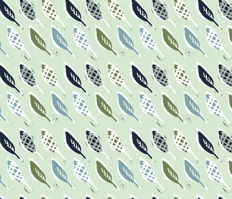 Marching Leaves fabric by statement_goods on Spoonflower - custom fabric