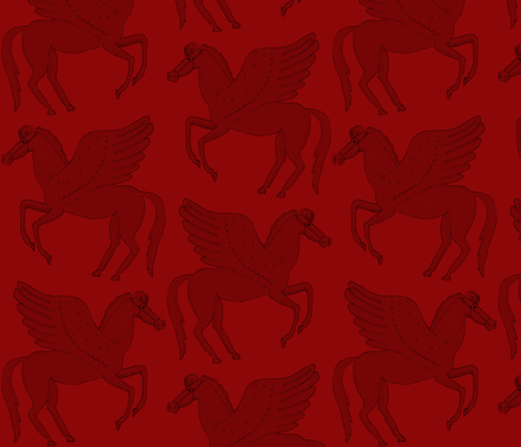 Pegasus Love fabric by uncommondepth on Spoonflower - custom fabric