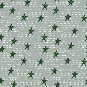 Stars and Lines - Holiday Pattern