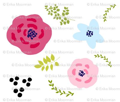 flower doodles MED4- spring garden