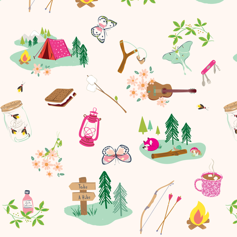 camp_allover fabric by seaurchinstudio on Spoonflower - custom fabric
