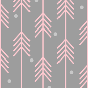 Dots  & Arrows_Pink_Gray