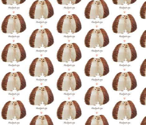 hedgehugs fabric by bethcentral on Spoonflower - custom fabric