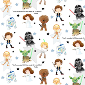 Nerdy Space Characters – Trendy Geek Fantasy Kids Room Bedding Sheets C