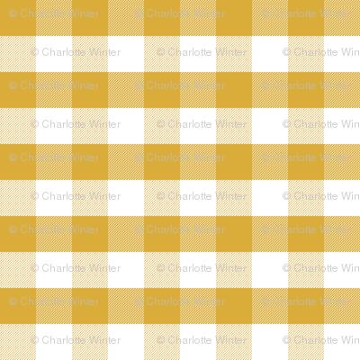 mustard gingham check tartan check mustard yellow checks - large