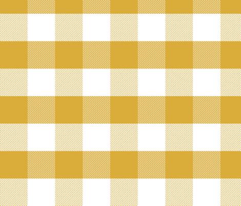 mustard gingham check tartan check mustard yellow checks - large fabric by charlottewinter on Spoonflower - custom fabric