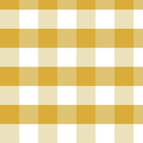 mustard gingham check tartan check mustard yellow checks - large
