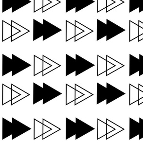 monochrome arrows big