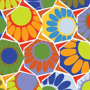 Broken Spanish Flower Tiles