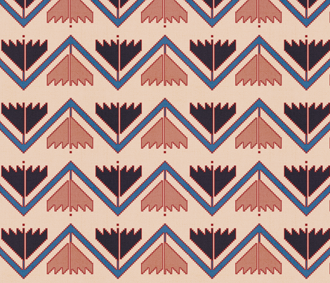 Running Water Kilim Pattern  fabric by katie_cary_rose on Spoonflower - custom fabric