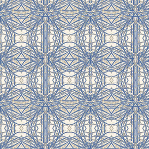 Celtic Cross in Blue, Bone and Grey