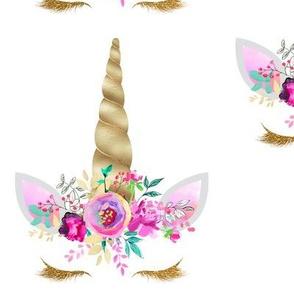"Purple an Gold Floral Unicorn 6""   2"