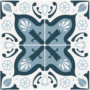 Spanish Tile in blues