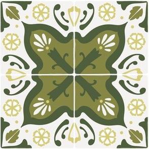 Spanish tiles in green