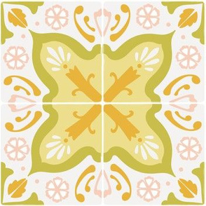 Spanish tile in yellows