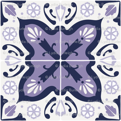 Spanish tiles in purple