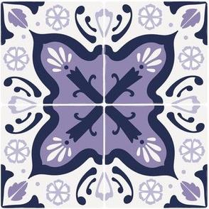 Spanish tiles in purple