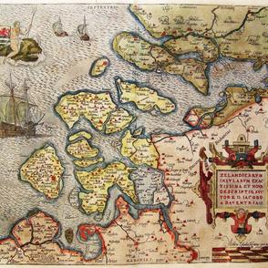"""1580 Map of Zeeland (21"""")"""