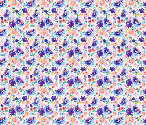 Indy Bloom Ultra Violet Blossom A fabric by indybloomdesign on Spoonflower - custom fabric