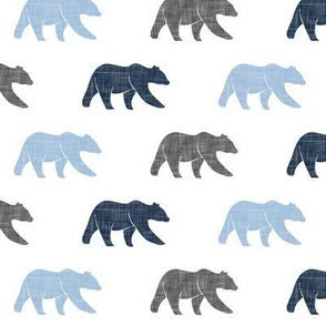 multi bear (small scale) - blue and grey