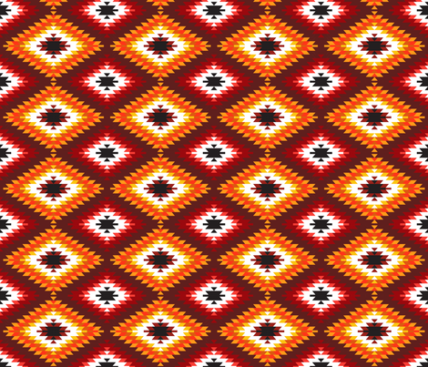 Turkish kilim rug fabric by ekaterinap on Spoonflower - custom fabric