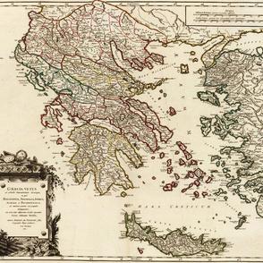 "1752 Map of Greece (21""W)"