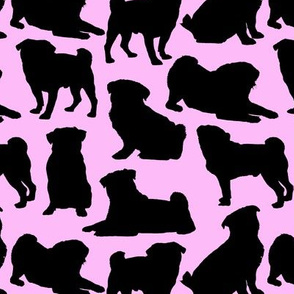 Pug Silhouettes // Pink