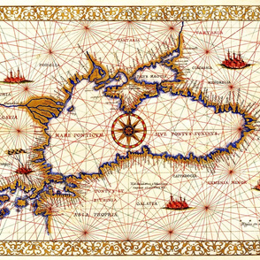 "1533 Black Sea Map (27""W)"
