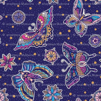 Butterflies tattoo flash