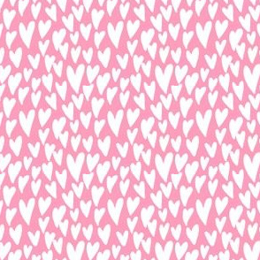 valentines hearts fabric valentines day love pink - small