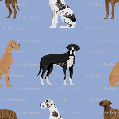 great dane mixed coats dog fabric bluish