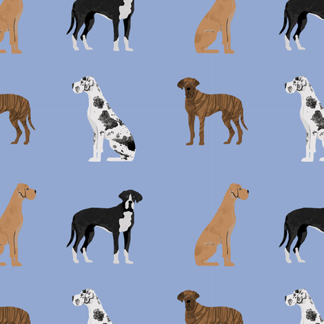 great dane mixed coats dog fabric bluish fabric by petfriendly on Spoonflower - custom fabric