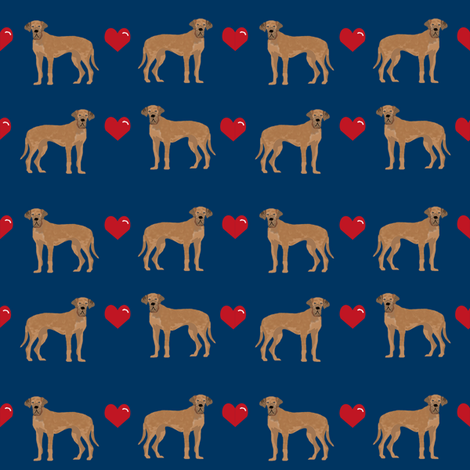 great dane tan love hearts dog fabric navy fabric by petfriendly on Spoonflower - custom fabric
