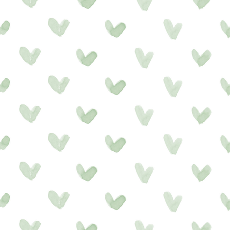Love Hearts // Sage fabric by hipkiddesigns on Spoonflower - custom fabric