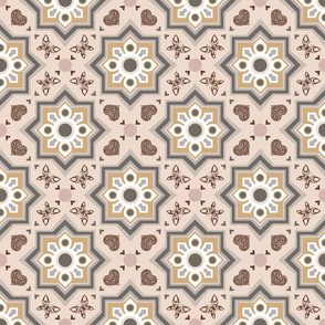 spanish tiles beige and rosé