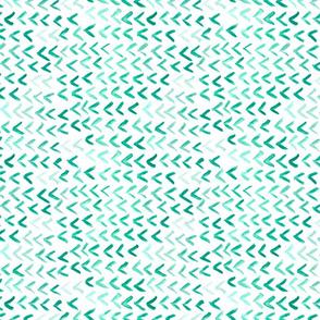 watercolor floating v's - green horizontal